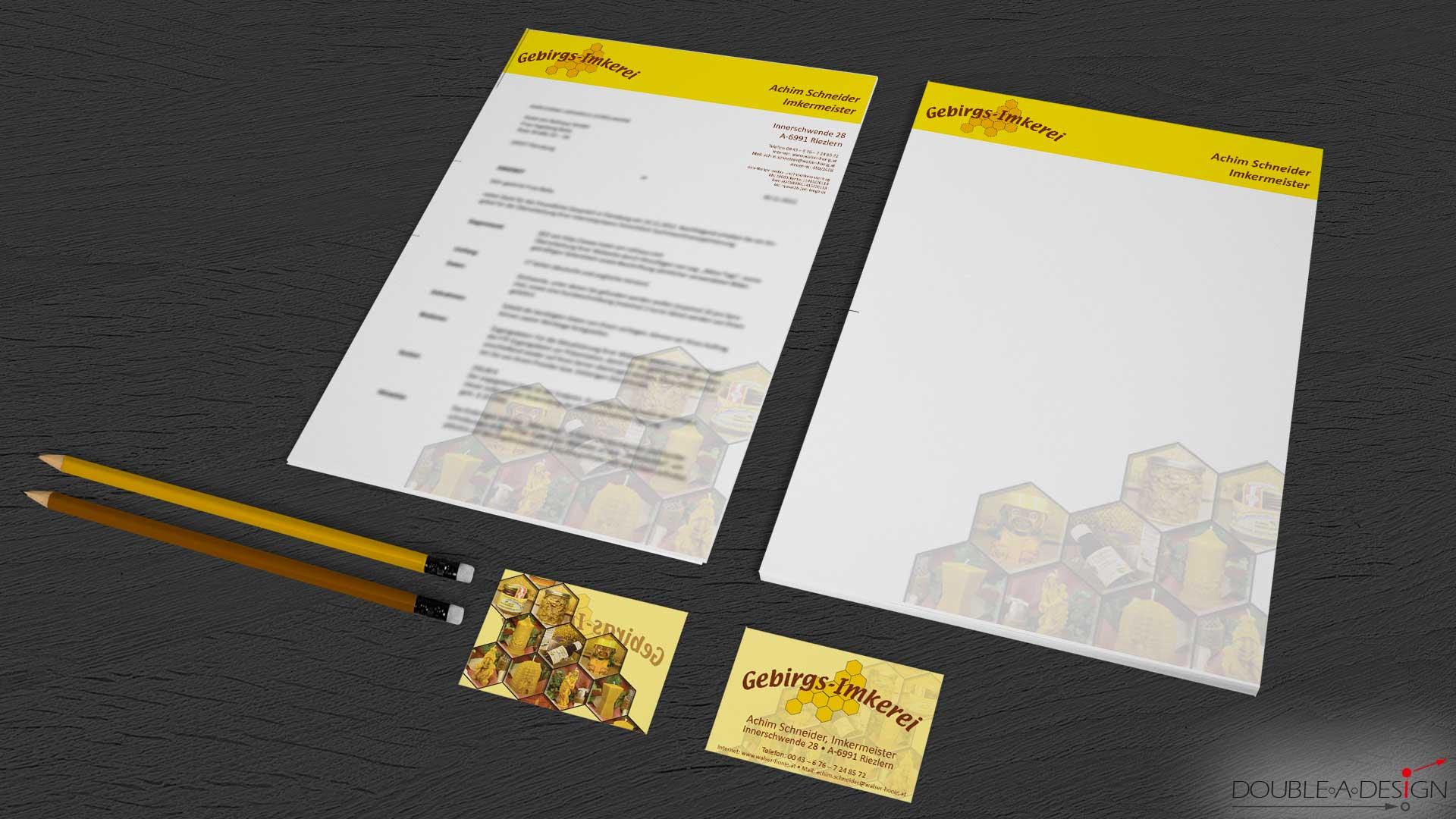 Briefbogen Design   Brand Design Double A Design